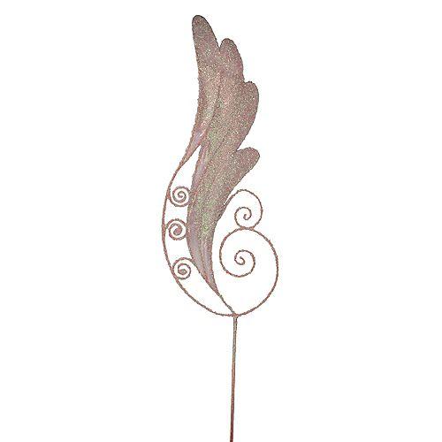 "24"" rose irisé Glittered aile d'ange Craft Pioche"