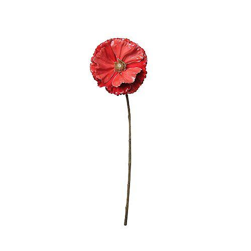 """18"""" Corail Rose pavot de Noël artificiel Stem"""