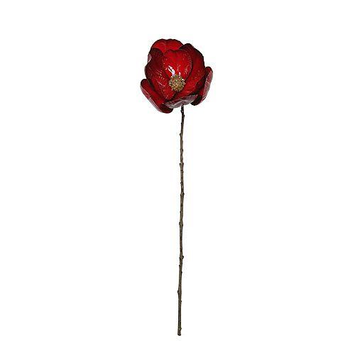 """23"""" rouge et brun Magnolia artificiel de Noël Stem"""