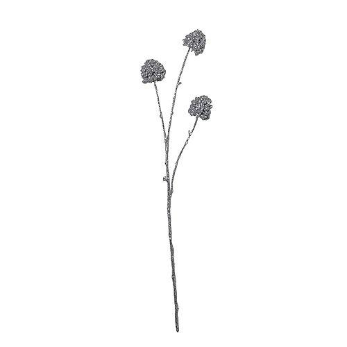 """32"""" Silver Sequin artificielle Allium pulvérisation de Noël"""