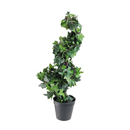 1.75' Potted English Ivy Spiral Artificial Topiary Christmas Tree - Unlit