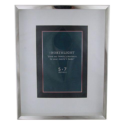 """10"""" Look moderne rectangulaire 5"""" x 7"""" Cadre photo - Argent et clair"""