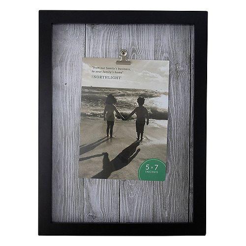 """12.5"""" classique rectangulaire 5"""" x 7"""" Cadre photo avec clip - noir et blanc"""
