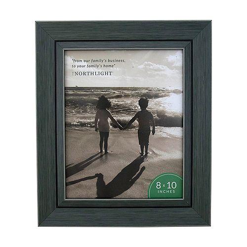 """13.25"""" contemporaine rectangulaire 8"""" x 10"""" Cadre photo - gris et noir"""