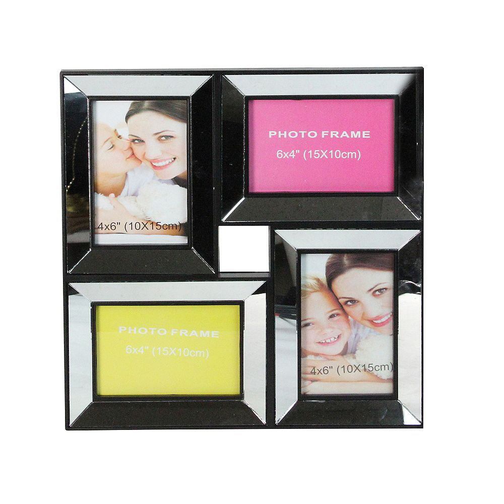 "Northlight 14,5"" Collage Noir Mirrored Cadre photo Décoration murale"