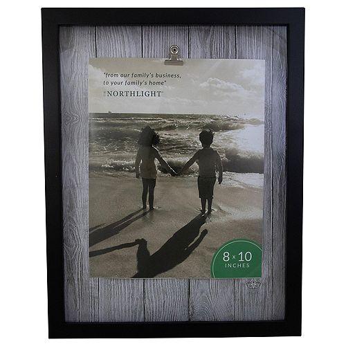 """14.5"""" classique rectangulaire 8"""" x 10"""" Cadre photo avec clip - noir et blanc"""