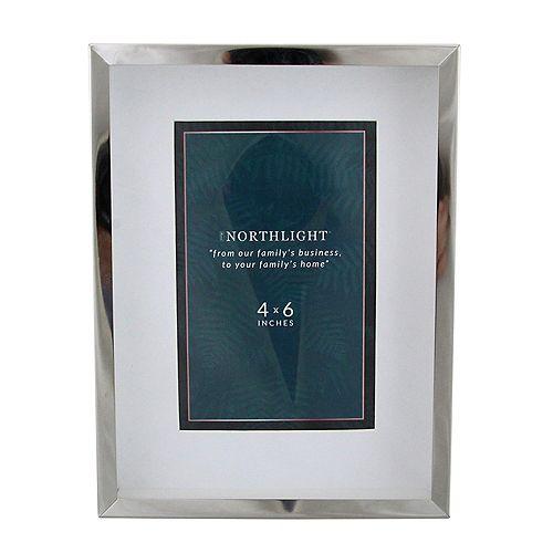 """8"""" contemporaine rectangulaire 4"""" x 6"""" Cadre photo - Argent et clair"""
