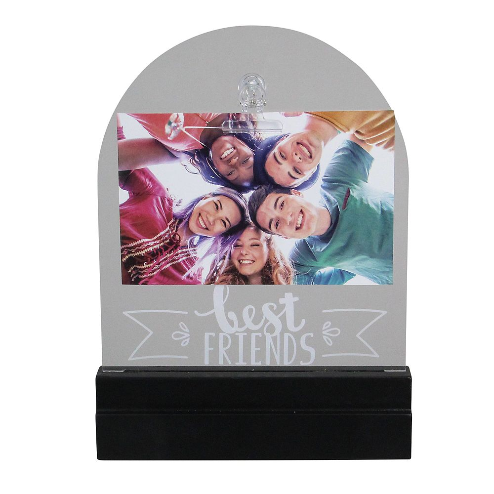 "Northlight LED Lighted Best Friends Cadre photo avec clip - 4"" x 6"""