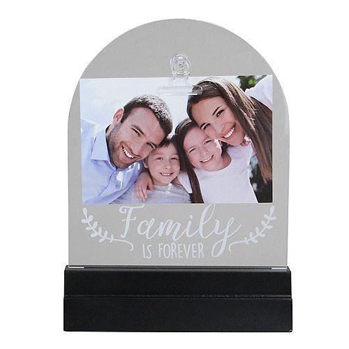 """LED Lighted famille est toujours Cadre photo avec clip - 4"""" x 6"""""""