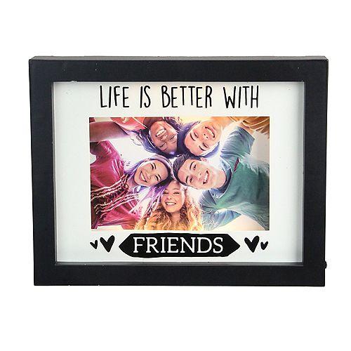 """LED Lighted vie est meilleure avec des amis emmêlée Picture Frame - 4"""" x 6"""""""