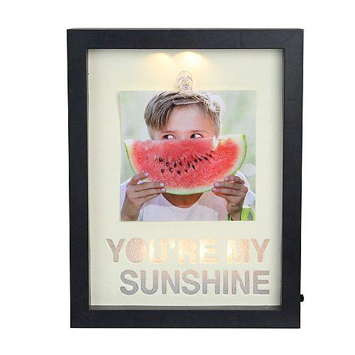 "LED Lighted vous êtes Frame My Sunshine Image avec clip - 4"" x 4"""