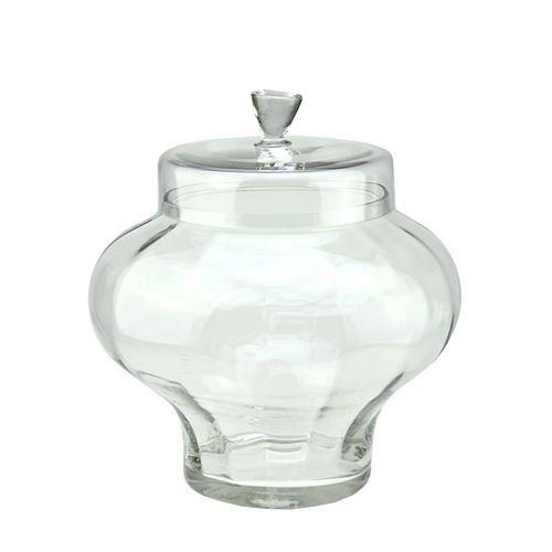 """14,5"""" en verre transparent segmentée Récipient avec couvercle"""