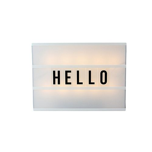 """12"""" Battery Operated LED Lighted A4 Light Box with Letters and Numbers"""