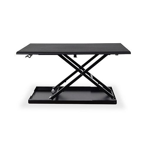 """Luxor Level Up 32"""" Pneumatic Adjustable Desktop Desk"""