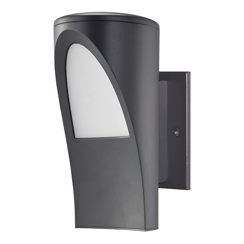 Propenda Anthracite Finish Outdoor Wall Light with White Acrylic Shade