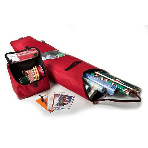 """13"""" Christmas Wrapping Paper Storage Bag - Holds 12 Rolls of Wrapping Paper"""