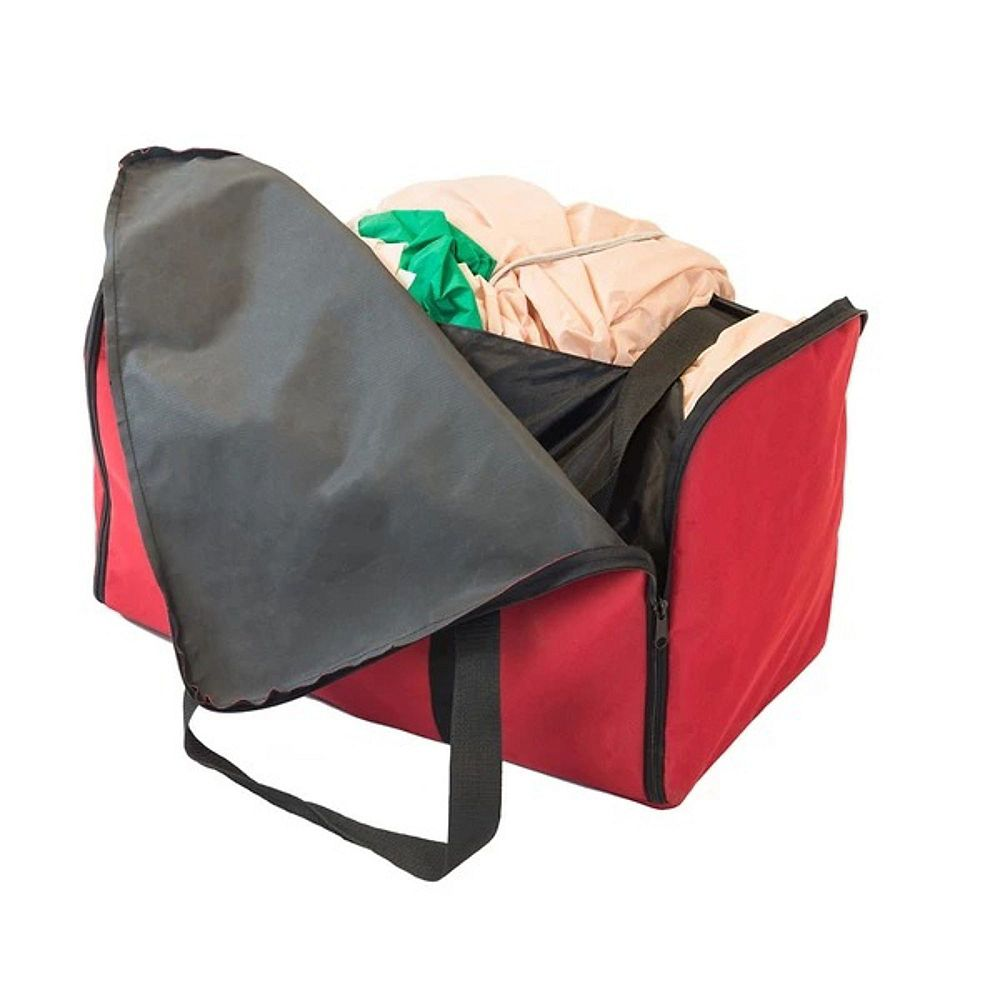 """Northlight 23"""" Red and Black Inflatables Christmas Storage Bag - Fits Small to Extra Large Decorations"""