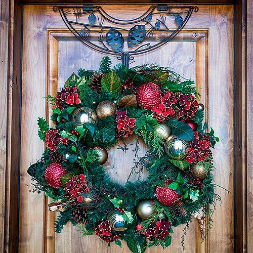 "Northlight 24"" Brown Pinecone Design Adjustable Decorative Christmas Wreath Hanger"
