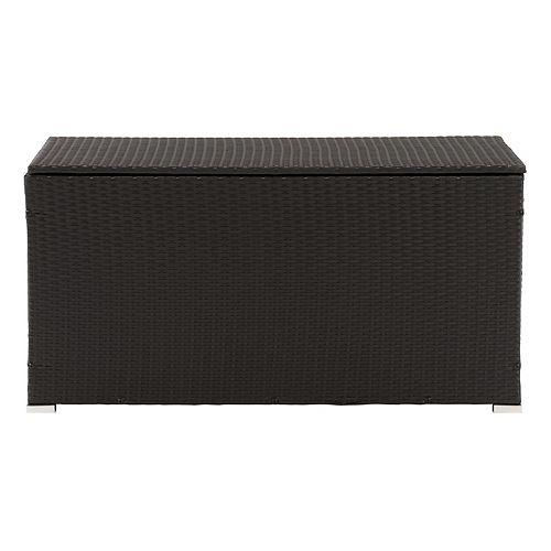 Corliving CorLiving Patio Cushion Box - Black Finish/Ash Grey Liner