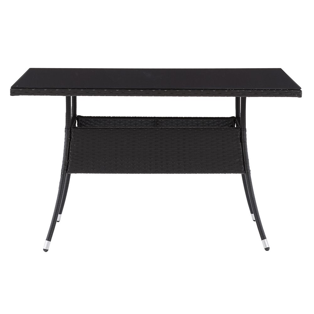 Corliving CorLiving Patio Dining Table Rectangle - Black Finish