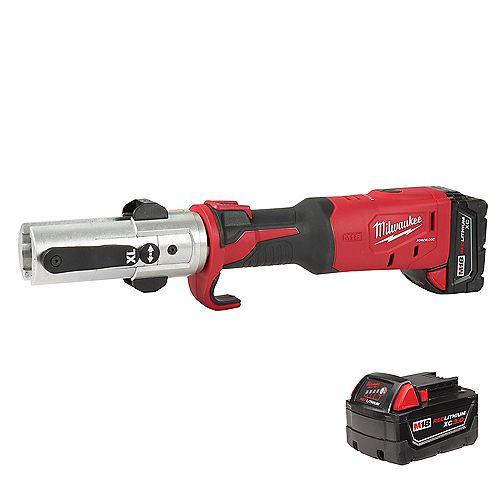 Milwaukee Tool M18 18V sans fil FORCE LOGIC Long Throw Press Tool Kit W/(2) 3.0Ah Batteries, chargeur et boîtier