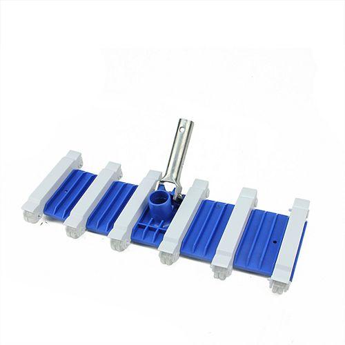 """19"""" bleu et blanc classique flexible lourd PONDERATION-sol Piscine Tête d'aspirateur"""