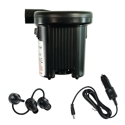 """4.5"""" Black Battery Operated or DC Electric Powered Inflate and Deflate Air Pump - For Inflatables"""