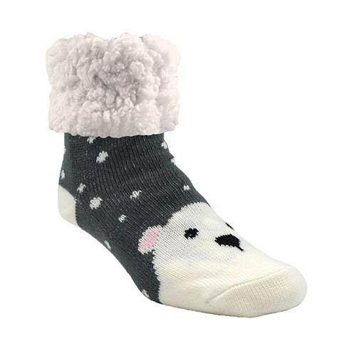 Piika Faux Fur Slipper Socks in Polar Bear