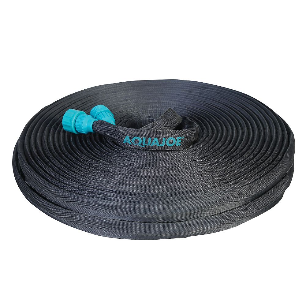 Sun Joe Aqua Joe Ultra Flexible Kink Free Fiberjacket Garden Hose | 100-Foot