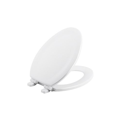 Stonewood Quiet-Close elongated toilet seat in White