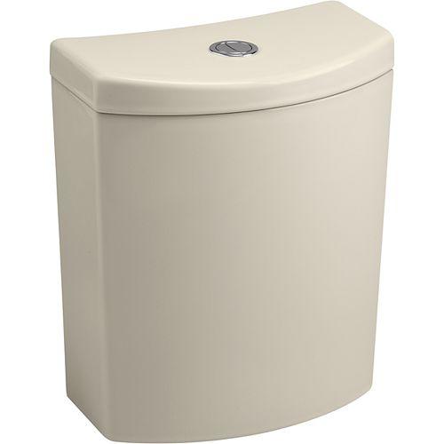 Persuade Curv dual-flush toilet tank, Almond