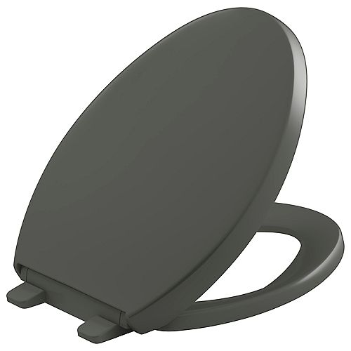 Reveal Quiet-close elongated  toilet seat, Almond
