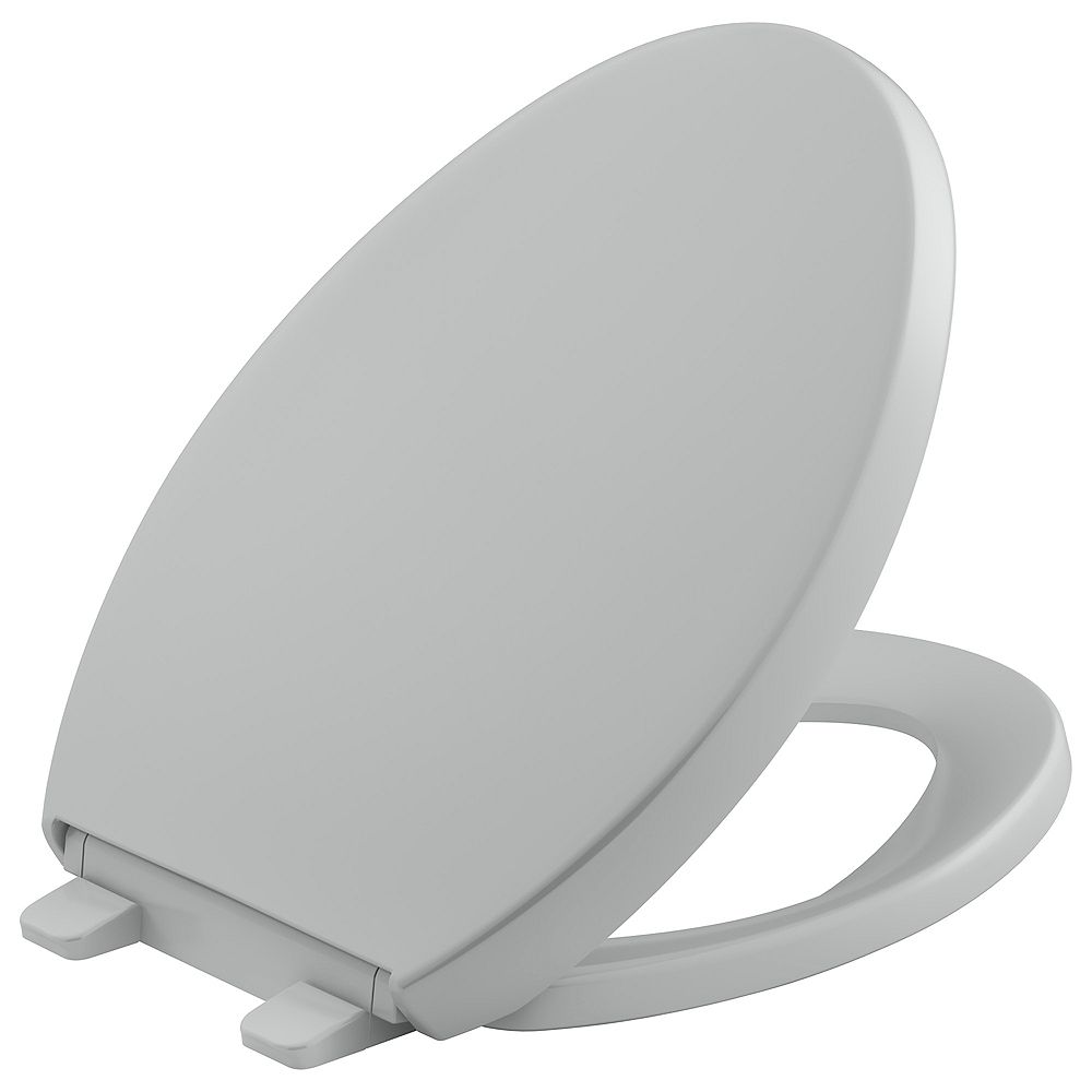KOHLER Reveal Quiet-close elongated  toilet seat, Ice Grey