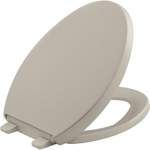 Reveal Quiet-close elongated  toilet seat, Sandbar