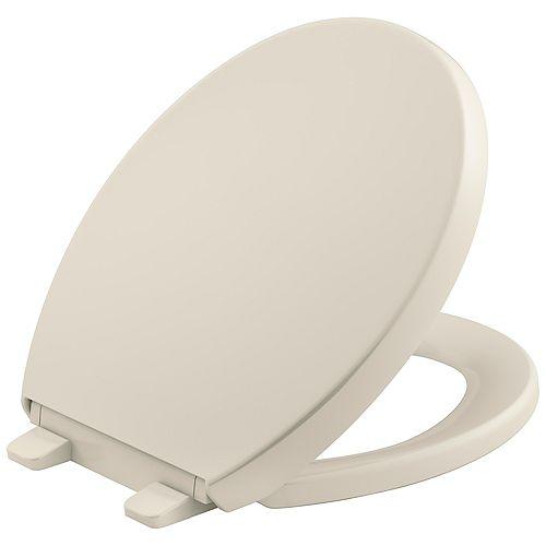 Reveal Quiet-close round toilet seat, Almond