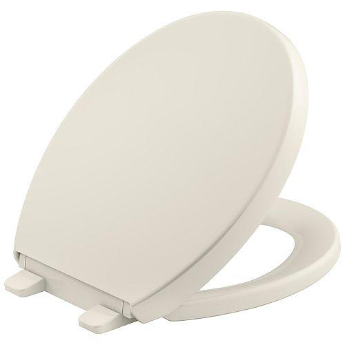 Reveal Quiet-close round toilet seat, Biscuit