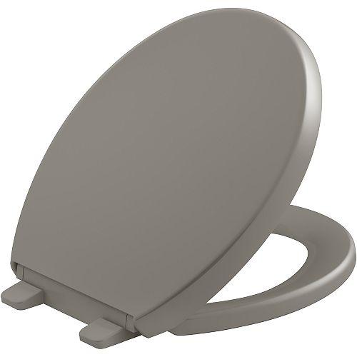 Reveal Quiet-close round toilet seat, Cashmere