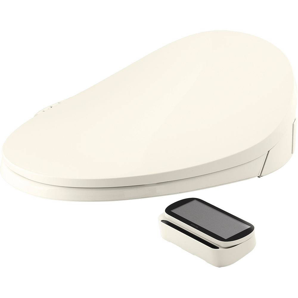 KOHLER C3-230 elongated bidet toilet seat, Biscuit