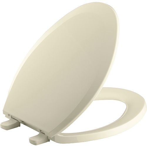 Lustra Quick-Release elongated toilet seat, Jersey Cream