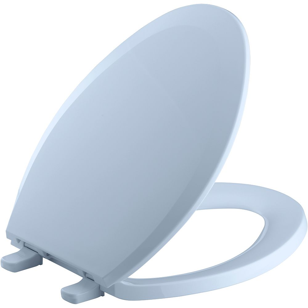 KOHLER Lustra Quick-Release elongated toilet seat, Skylight