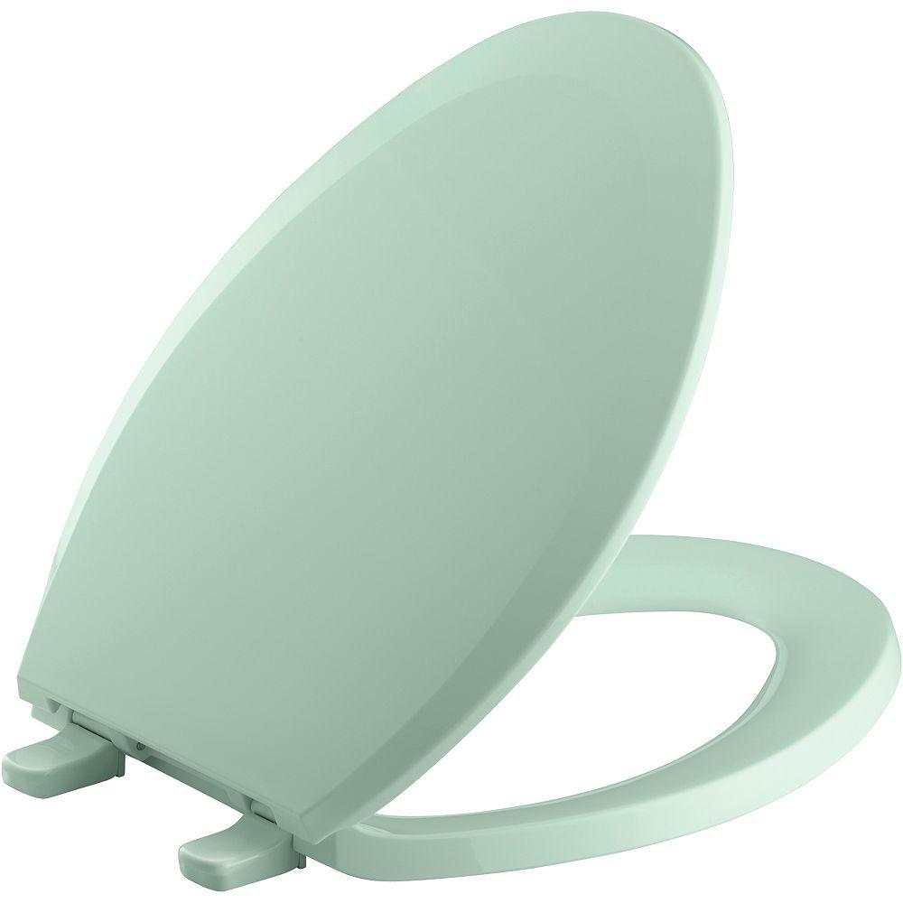 KOHLER Lustra Quick-Release elongated toilet seat, Seafoam Green