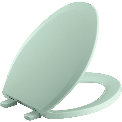 KOHLER Lustra Quick-Release elongated toilet seat, Seafoam Green