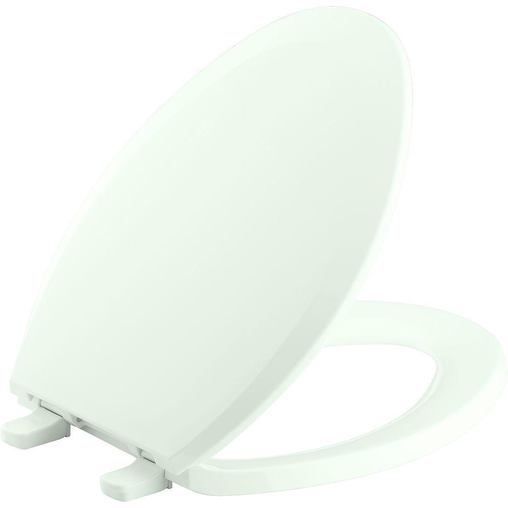 KOHLER Lustra Quick-Release elongated toilet seat, Tea Green
