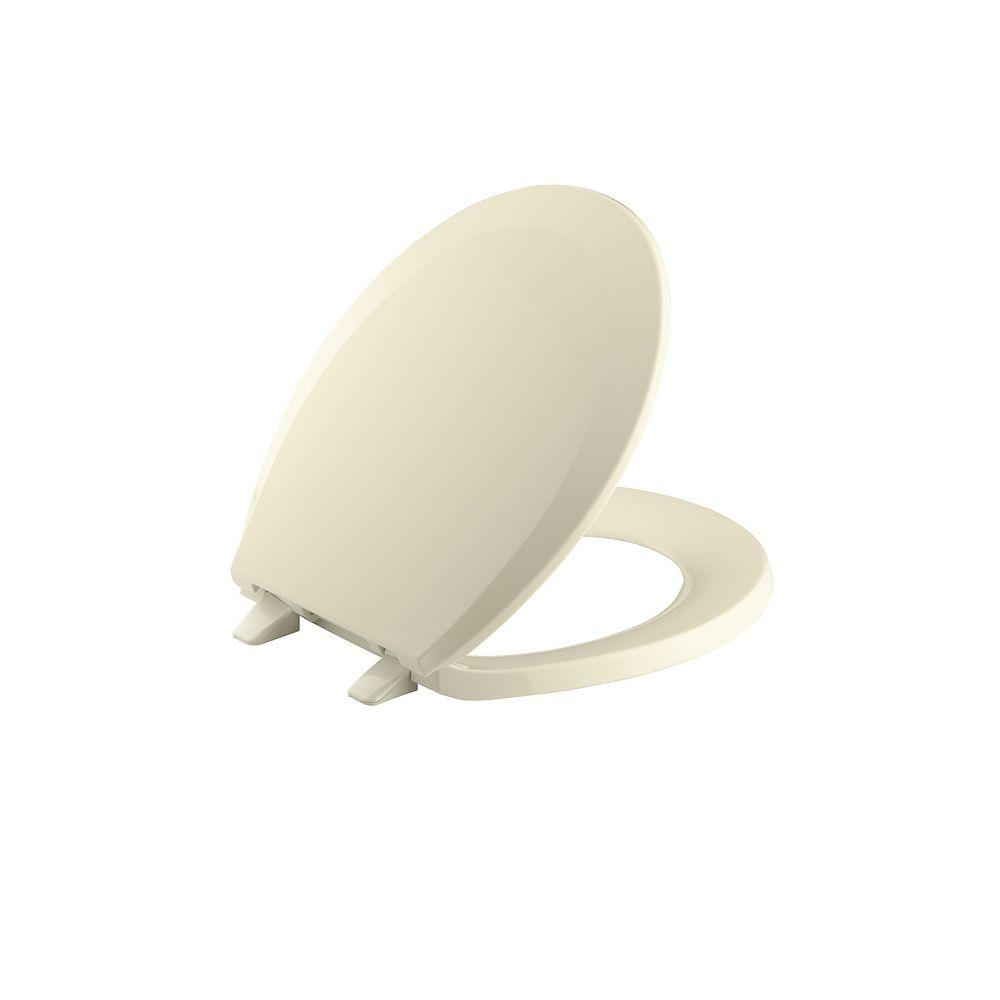 KOHLER Lustra Quick-Release round-front toilet seat, Jersey Cream