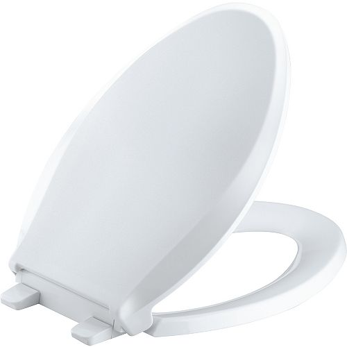 Cachet Quick-release elongated toilet seat, White