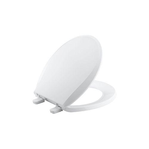 Cachet Quick-release round toilet seat, White