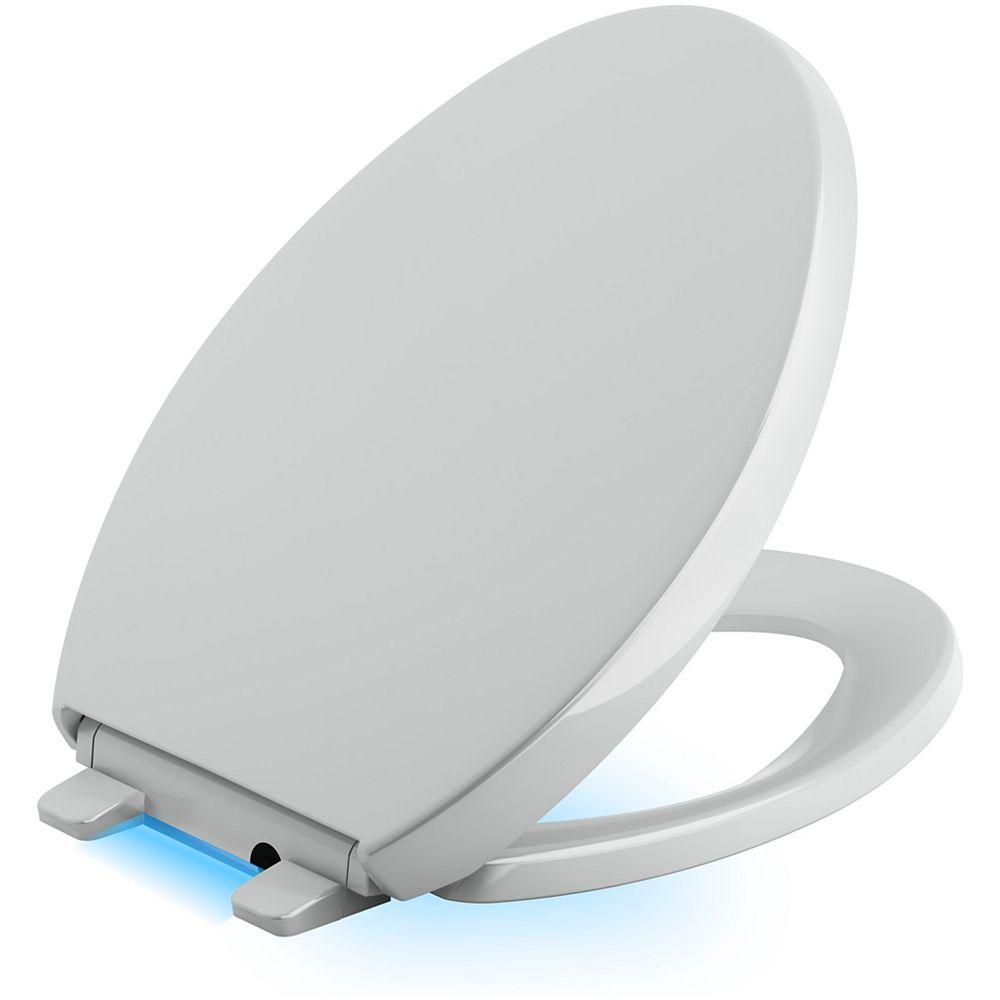 KOHLER Reveal Nightlight Quiet-close toilet seat, Ice Grey
