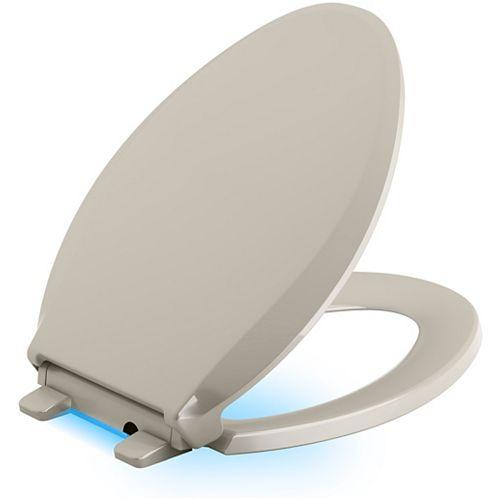 Cachet Nightlight Quiet-close toilet seat, Sandbar