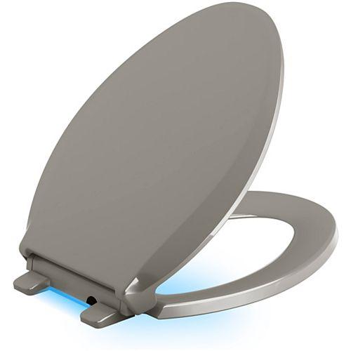 KOHLER Cachet Nightlight Quiet-close toilet seat, Cashmere