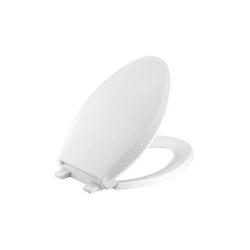 Cachet Quiet-close elongated toilet seat, White